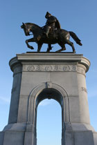 Statue of a Man on His Horse